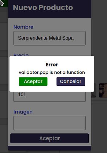 error product